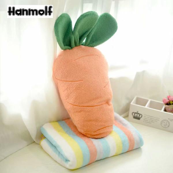 Güzel Peluş Havuç Oyuncak Battaniye Seçeneği Sebze Meyve Dekor Yastık Huggable Havuç Şekilli Yastık Çocuklar Yetişkinler 38 cm / 58 cm