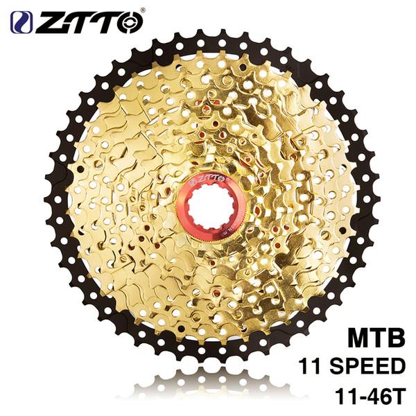 ZTTO HITO MTB Bicycle 11Speed 11-46T SL L Black&Gold Freewheel Cassette Shimano Parts for XT K7 X1 X01 GX NX 1X