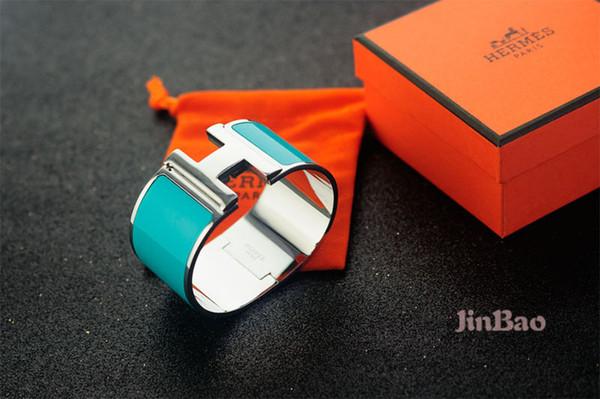 Factory Price 2019 Celebrity Design Letter Silver Metal Belt Width Bracelet Fashion Letter Metal Buckle Bracelets With Box