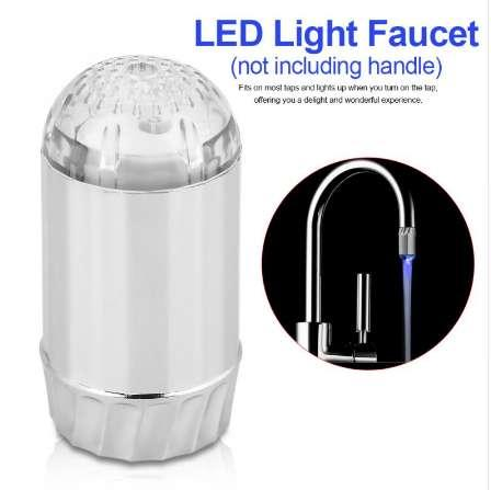 LED Light Faucet Swivel Spout Spray Color Changing LED Light Faucet Kitchen Sink Basin Mixer Water Tap