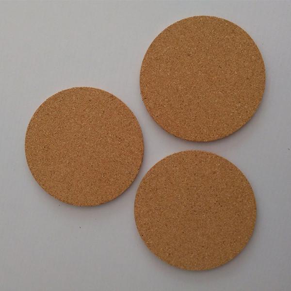 Tapis de verre rond en li/ège r/éutilisable et absorbant de style r/étro Isolation thermique