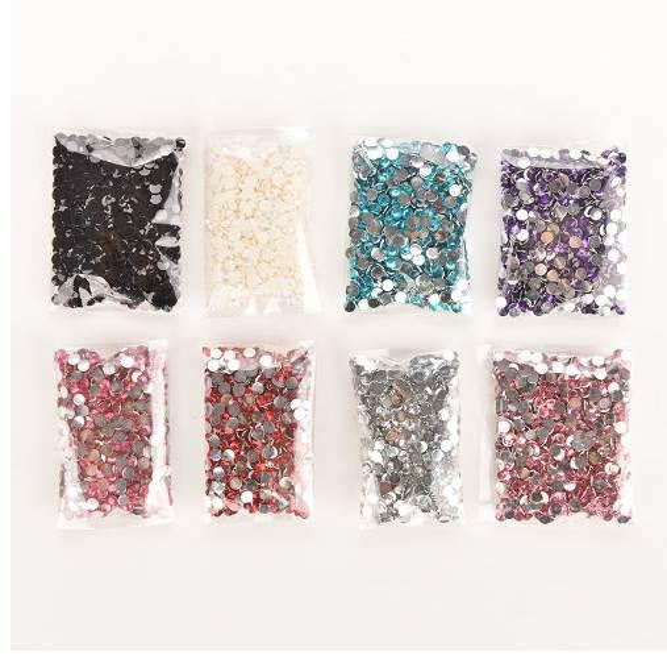 HENGHOME 1000pcs/bag Rhinestones Crystal Clear AB Non Hotfix Flatback Nail Rhinestoens For Nails 3D Nail Art Decoration Gems 4mm