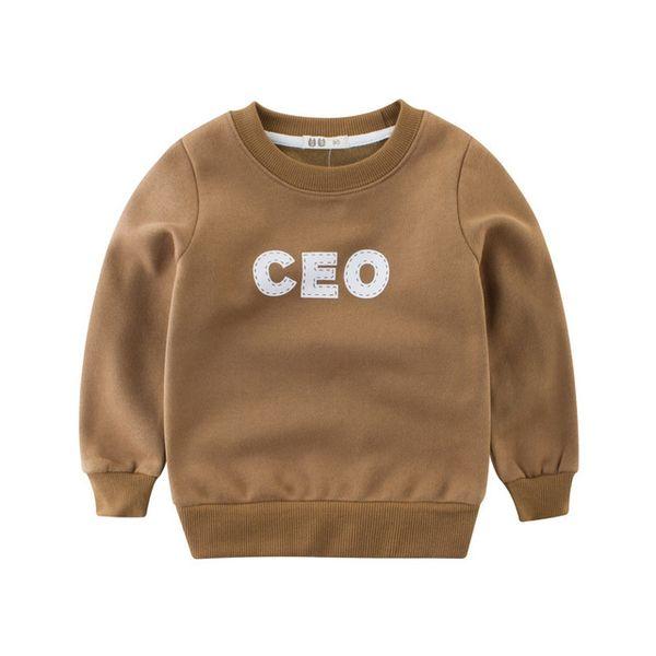 2019 autumn and winter Kid Letter Infant Girls Sweatshirts Kids Boys Fleeces Hoodies Long Sleeve Cotton Children Boys T-shirt clothes