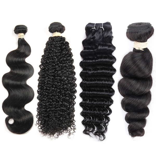 Wholesale Price Brazilian Virgin Hair 1 Bundles Mink Brazilian Hair Extension Straight Body Wave Kinky Curly Deep Wave Loose Wave