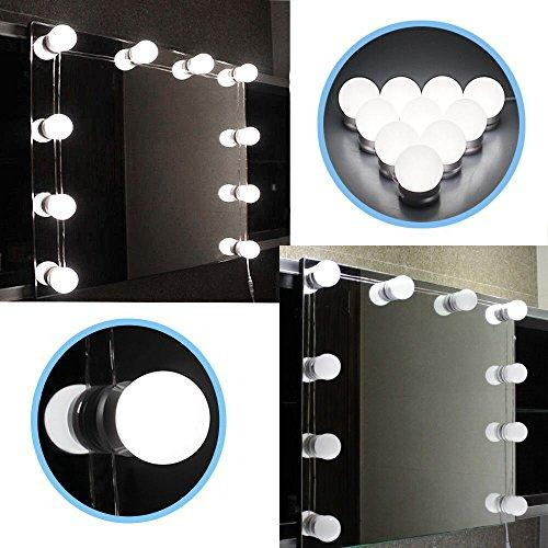 top popular Hollywood Style LED Vanity Mirror Lights Kit with Dimmable Light Bulbs, Lighting Fixture Strip for Makeup Vanity Table Set 2021