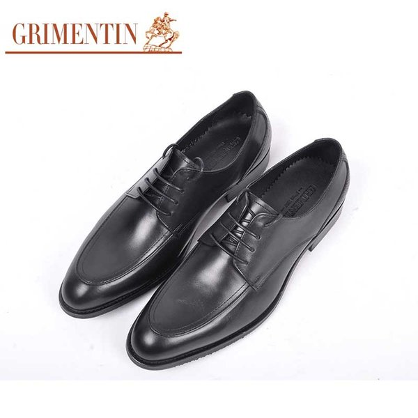GRIMENTIN Hot sale brand dress mens formal shoes high quality fashion men oxford shoes genuine leather office business wedding mens shoes RC