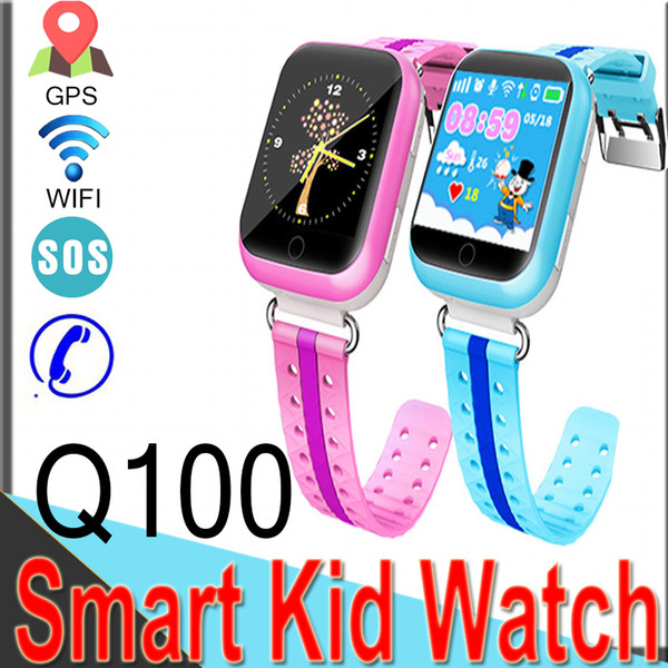Q100 Smart Watches for Kids GPS LBS with WIFI Baby Watch 1.54inch SOS Call Location Device Tracker Flashlight Q750 M05 Q6