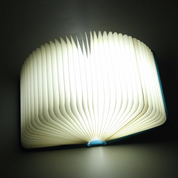 Foldable Pages Night Light Folding Led Book Shape Light Lamp Portable Booklight Usb Rechargeable Table Book for Decor