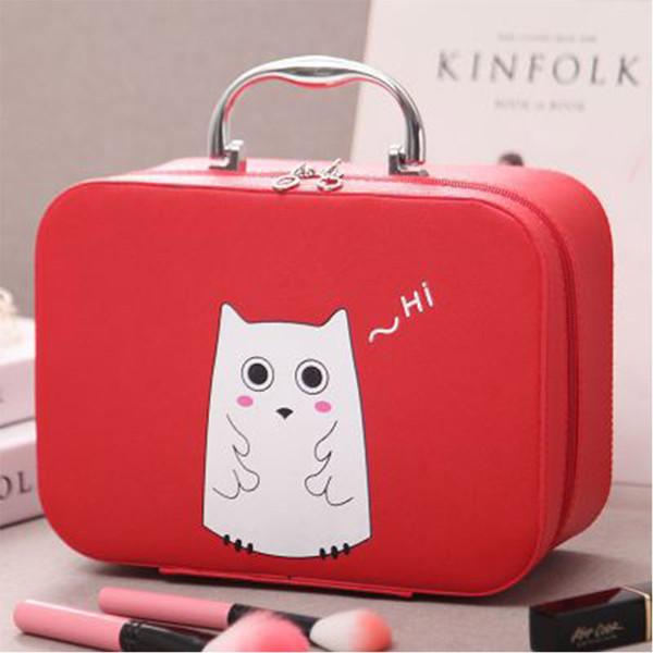 bolsa de cosméticos de color rojo