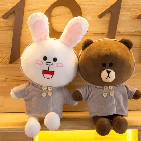 Designer Childrens Toys Brown Bear Kids Plush Toy Doll Kenny Bunny Pillow Cute Rabbits Bears Doll Fashion Styles Kid Christmas