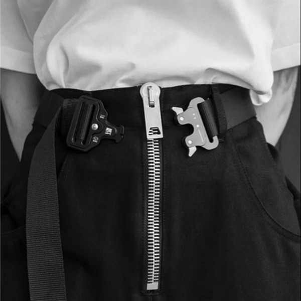 Four Types ALYX Belt Roller Coaster BELT Metal Button Unisex Hip Hop Swag Brand Men Women Belt ZMM0369-4