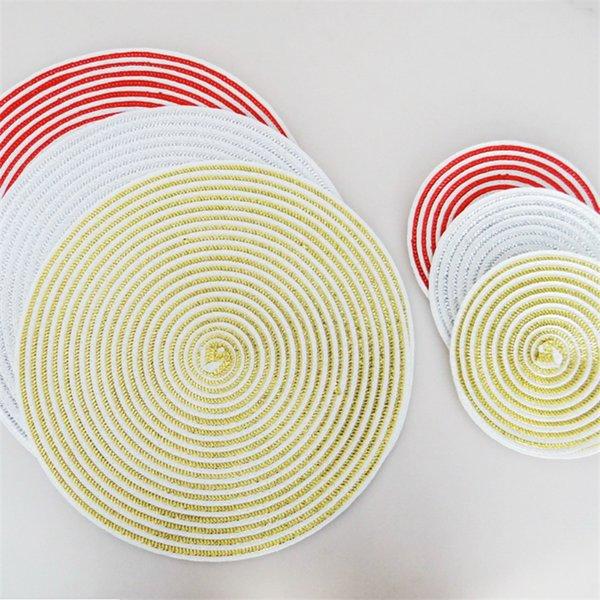 18 cm / 36 cm Mesa de comedor fácil de limpiar Mantel individual mesa de comedor estera almohadillas de disco almohadilla de cuenco posavasos impermeable mantel de tela antideslizante