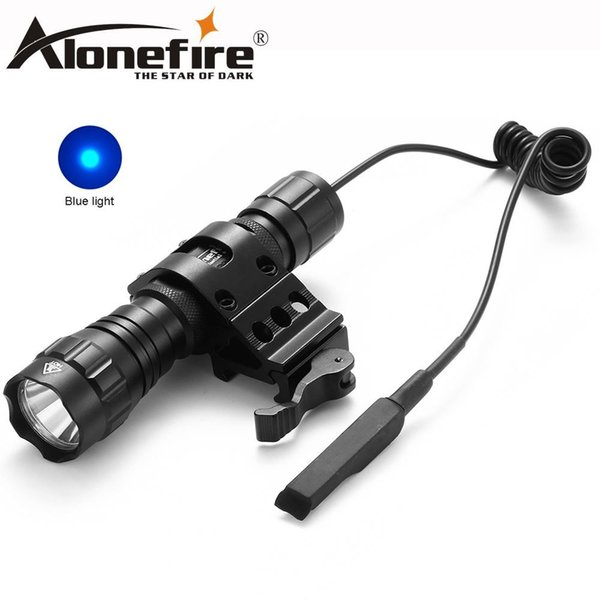 AloneFire CREE 501Bs blue light Hunting LED Flashlight Torch Pressure Hunting Light Lamp for 18650 battery