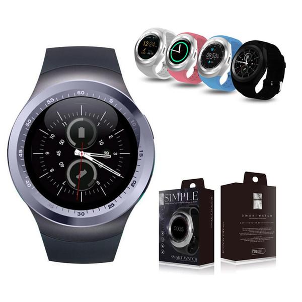 4color Y1 Y1s Hombres Mujeres Relojes Bluetooth Relojes Z3 Reloj con cámara TF Ranura para tarjeta SIM para iPhone Oppo Huawei Xiaomi Teléfonos