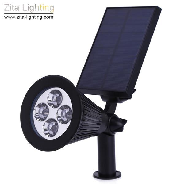 4Pcs/Lot Zita Lighting Solar Light LED Outdoor 4 LED Solar Power Indoor Spotlight Landscape Lawn Lamp Garden Spot Lights IP65 Pathway Lamp