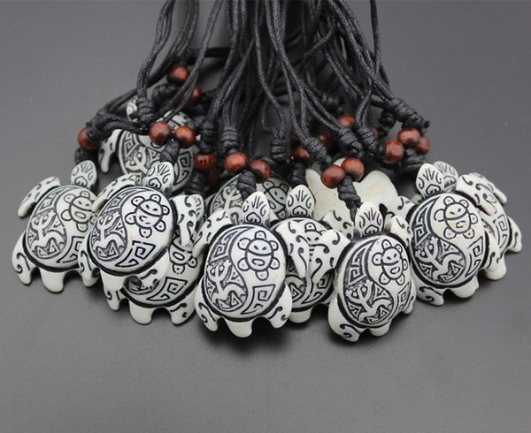 Fashion Jewelry Wholesale lot 12pcs Taino Jayuya Tribal Sun Smiley Frog Carving Surfing sea Turtles Pendant Necklace Amulet Gifts MN265