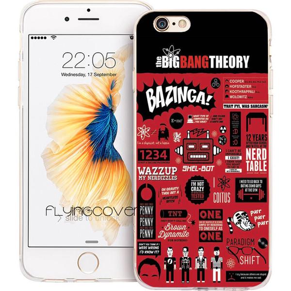 Капа Теория Большого Взрыва Bazinga крышка телефона для iPhone Х 7 8 Плюс 5S 5 SE 6 6 S плюс 5C 4S 4 iPod Touch 6 5 ясно мягкие TPU силиконовые чехлы.