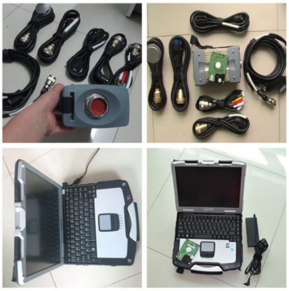 New OBD2 scanner 12V/24v MB STAR C3 Full Set for Mercedes for Benz cars trcuks +cf30 Laptop+Xentry V2014.12 HDD ready use