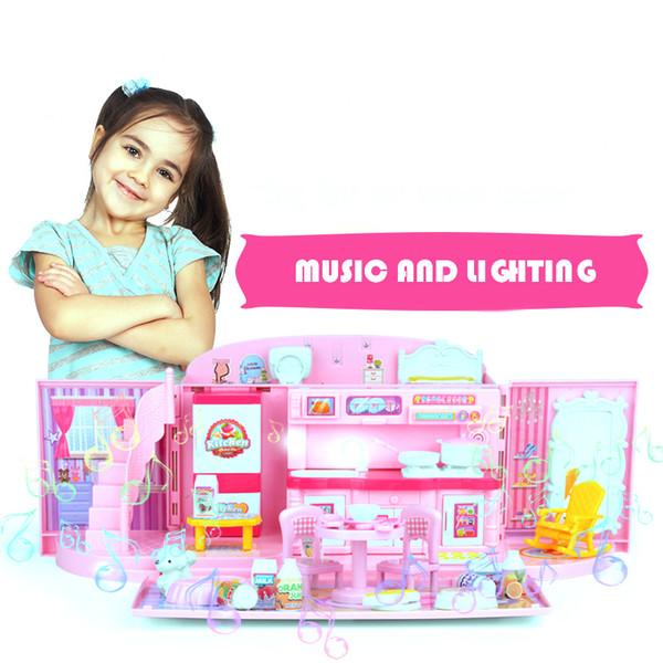 2019 Toy Kitchen Sets For Kids Handbag House Pretend Play Kitchen