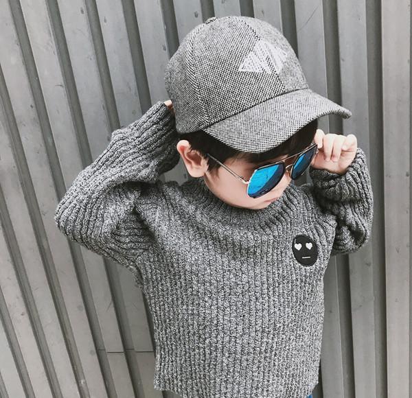 Baby-Jungen-Strickjackenkinder strickten Baumwolle gestreiften Pullover Mädchen Rollkragen Pullover Winter warme Oberbekleidung Kinder Kleidung 1-6Y
