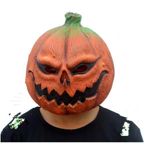 Halloween tête masque citrouille forme crâne masques d'horreur festif fournitures de fête costume accessoires de fête en latex cosplay masque visage complet