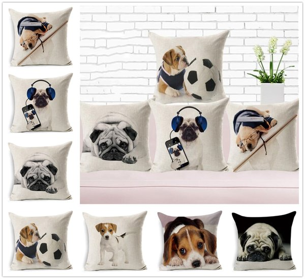 Hot Lovely Different Dog Pattern Pillow Case Cushion Cover Home Office Decoration Pretty Gifts Free Shipping