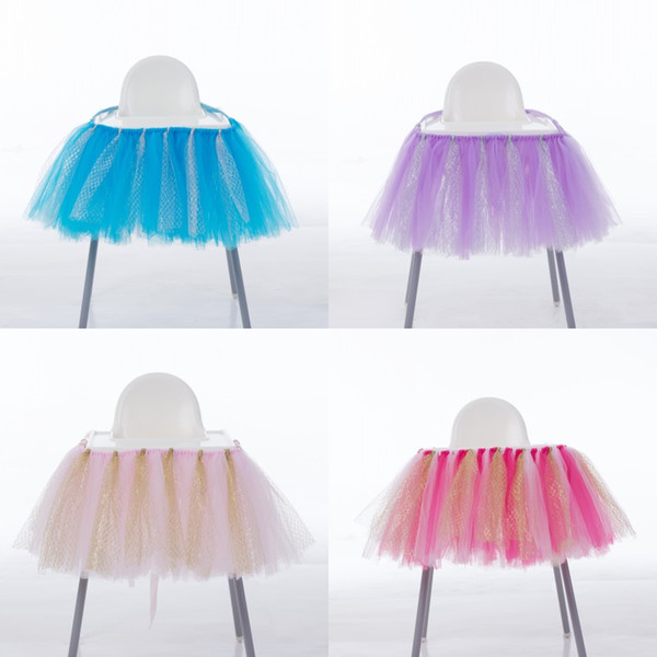 Soft Tutu Chair Skirt For Baby Shower Wedding Party Decoration Chairs Cover Cartoon Multi Function Ornament High Quality 28mr CB