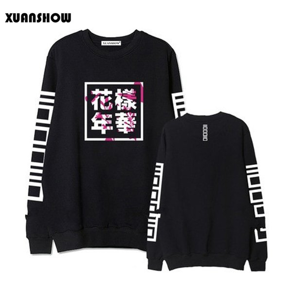 Fashion Hoodies Women Bangtan Boys Album Fans Clothing Letter Printed O Neck Spring Autumn Winter Sweatshirts