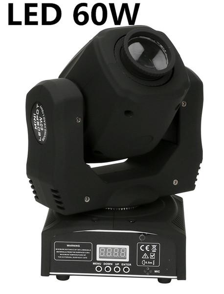 top popular 10pcs lot led 60W mini led spot moving head light Mini Moving Head Light 60W DMX dj 8 gobos effect stage lights 2021