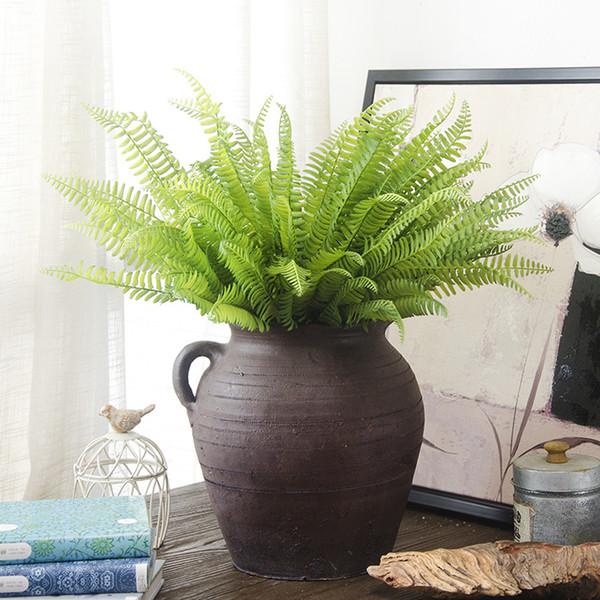 1 Pcs Artificial Flor Deixa Plantas Muito Falso Lifelike Plástico Grama Persa Lysimachia Fern floral decoração