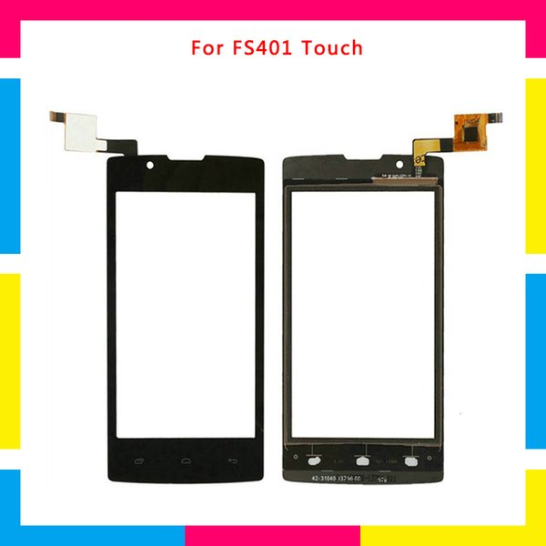 Replacement high quality Touch Screen Digitizer Sensor Outer Glass Lens Panel For Fly FS401+Tracking code