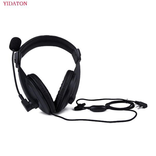 Earpiece Headset Mic For Kenwood Baofeng UV-5R Radio TH-F7 TK-3107 Puxing PX-777