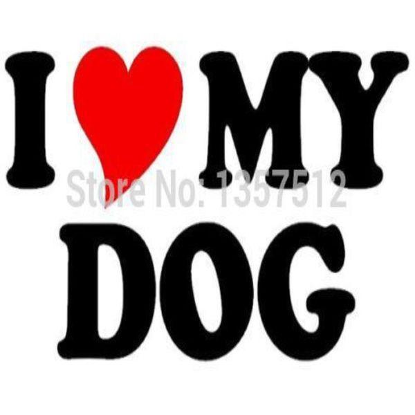 HotMeiNi Wholesale 20pcs/lot I Love Heart My Dog Novelty Car Sticker For Truck Window Bumper Door Kayak Vinyl Decal 8 Colors