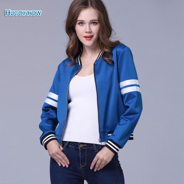 Wholesale-Women's Bowling Jackets Sportwear Campus Popular Student Sports Clothes Diamond Blue Female Autumn Jacket