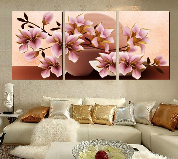 Canvas Wall Art Modular Painting Flower Prints Decorative Picture For Living Room Cuadros