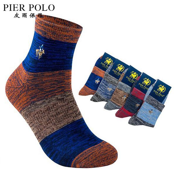 7fd1438293088 5pairs /Lot High Quality Pier Polo Brand Men Thick Socks Meias Winter Warm  Socks Cotton