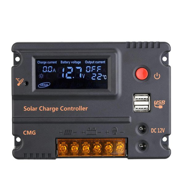 H16055-1 10A 12V 24V LCD Solar Charge Controller Panel Battery Regulator Auto Switch Overload Protection Controlador De Carga Solar Panel