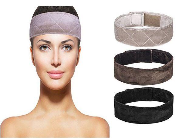 Wig Grip Adjustable Velvet Elastic Comfort Headband Hook and Loop Fastener Adjustable Wig Band