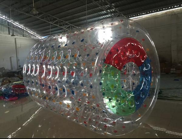 Freies Verschiffen PVC-Handelswasser-sich hin- und herbewegende Spiel-aufblasbare Wasser-Rolle für Verkauf