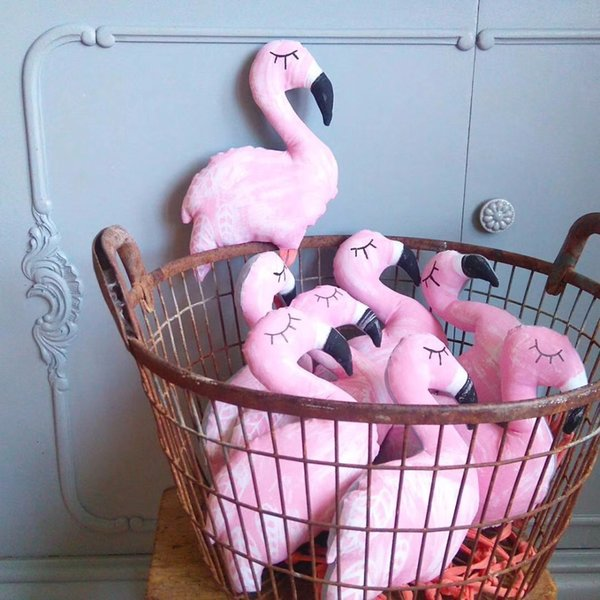 INS Farcito Flamingo Toys Bambole Soft Comfort Bambole Pink Flamingo Giocattoli Kids Room Decor Baby Comfort Regali di Natale