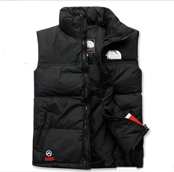 Hot 2019 hombres ABAJO abajo chaqueta de invierno North Polartec chaleco Masculino Chaquetas Con Capucha Collar de Bombardero Con Cremalleras Abrigos de cara al aire libre