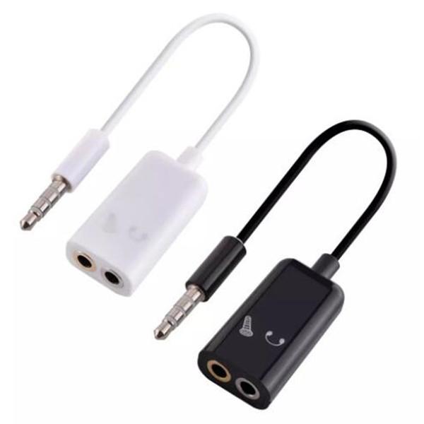 Cavo da 3,5 mm a doppio da 3,5 mm Cavo da maschio a femmina Cavo audio Adattatore splitter Plug Auricolare stereo Per iphone 4 5 6 Mp3 Mp4