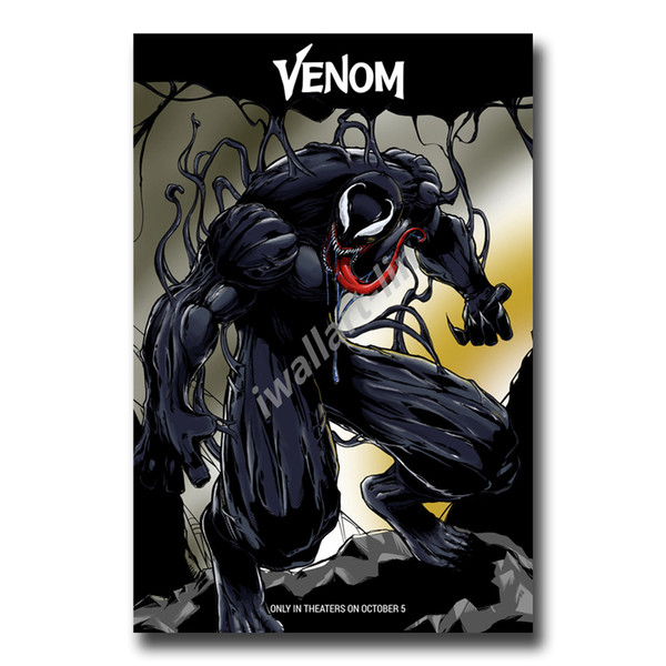 Marvel Venom Super Heroes Figure Movies Poster HD Canvas Painting Oil Framed Wall Art Paint Pictures For Living Room Home Decoracion