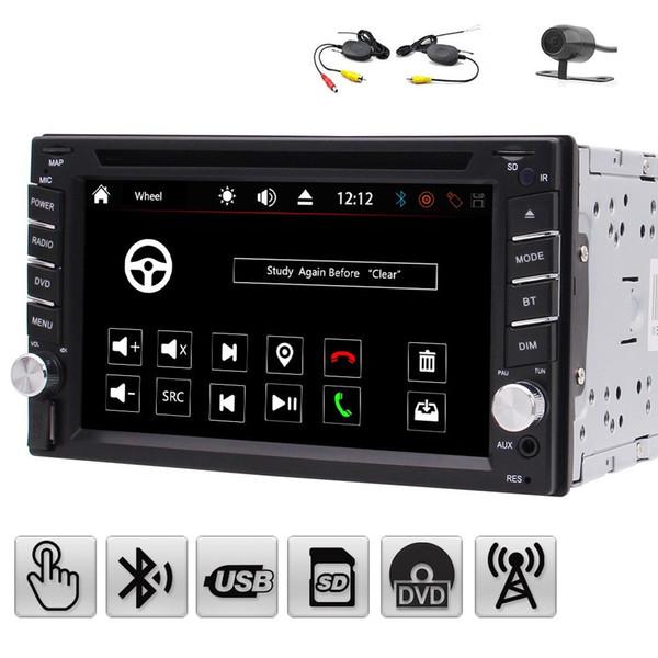 6.2'' Double 2 Din Car Stereo Automotive car DVD Player in Dash Radio Hands-free Bluetooth USB SD MP3 Player Autoradio Aux+Wireless camera