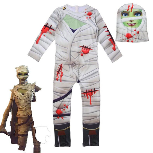 Kid Fortnite Crâne Trooper Peau Décoration Garçons Caractère Clown Cosplay Vêtements Halloween Costumes Ninja Party Drôle Vêtements