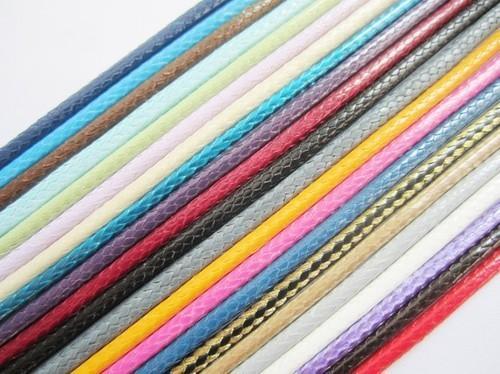 50 m filo di corda cerata coreano filo da 1 mm cavo per artigianato decorativo corda pathwork accessori tallone rotolo tablet mano fai da te