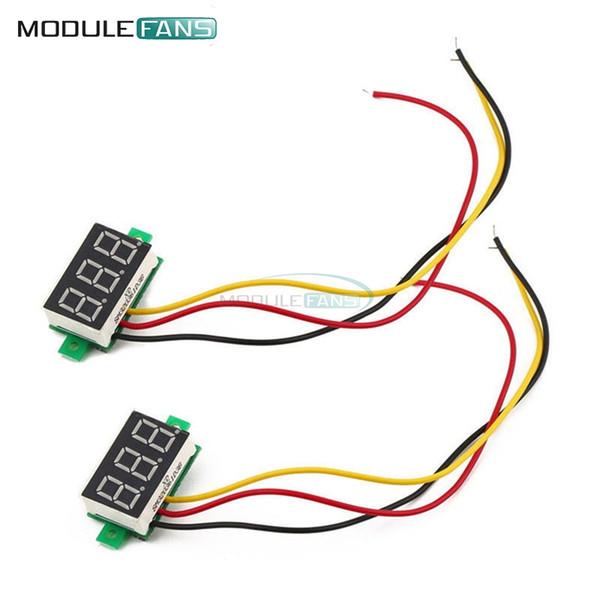 0.28 Polegada LED DC 0-100 V Voltímetro Vermelho Digital Display Voltage VOLT METER 12 V 24 V