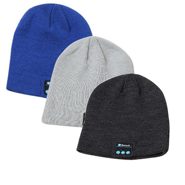 Novo gorro chapéu cap sem fio bluetooth fone de ouvido fone de ouvido bluetooth speaker fone de ouvido estéreo microfone ao ar livre música de inverno