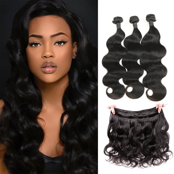 Raw Indian Hair Body Wave Human Hair Bundles Virgin Cuticle Aligned Hair Wholesale 8-30 Inch Natural Color