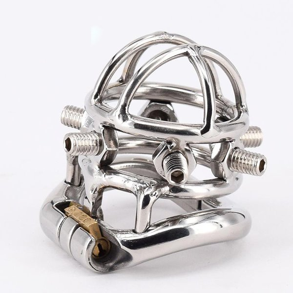 Free Shipping!!!Adult male chastity device cock cage penis lock cage penis cage with 6 Screws